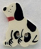 86215 - Dalmation Facing Left 3/4in x 1in - 1 per pkg
